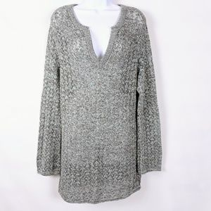 Liz Claiborne First Issue open knit sweater tunic